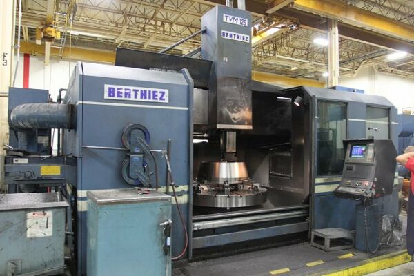 BERTHIEZ TVM 125  CNC VERTICAL BORING MILL WITH LIVE MILLING FANUC 15 NEW: 97
