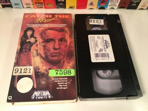 * Catch The Heat 80#x27;s Martial Arts Action VHS 1987 Tiana Alexandra Rod Steiger $6.99