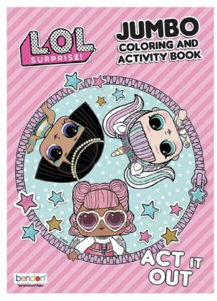 LOL SURPRISE DOLLS JUMBO COLORING AND ACTIVITY BOOK *ACT IT OUT* L.O.L. Lol lol