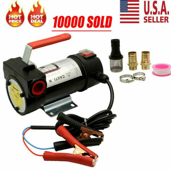 Portable 12V DC Electric Fuel Transfer Pump Kerosene Oil Diesel Commercial Auto