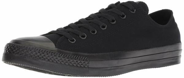 CONVERSE Chuck Taylor All Star Men Black Monochrome Low Top Sneaker NWB Size 10