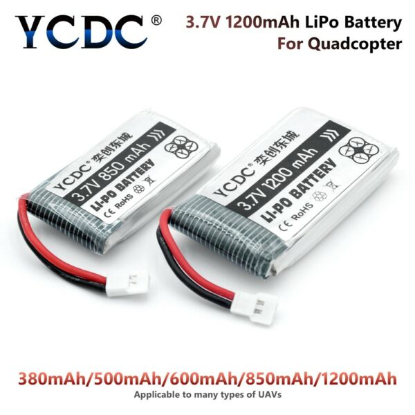 380-1200mah 3.7v 25c lipo battery for syma x5c udi u45w rc quadcopter drone 138