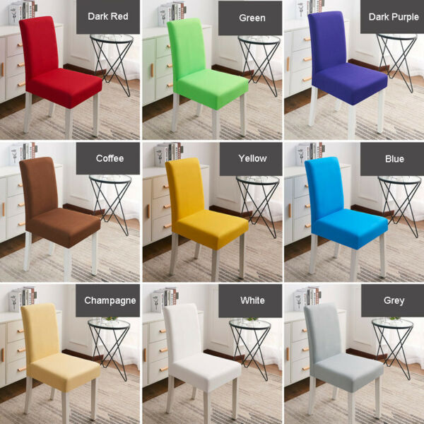 146pcs Dining Chair Covers Soft Seat Slipcover for Kitchen Wedding Party Decor