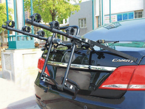 VI 3 Bike Bicycle Cycle Rack Rear Trunk Mount Hitch Carrier For Car SUV $205.15