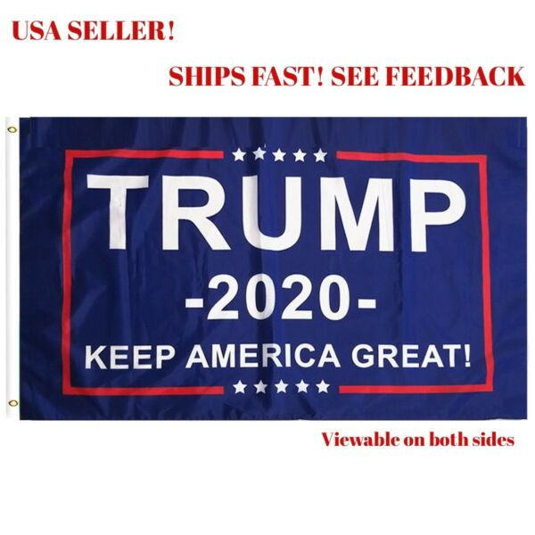 PringCor Trump 2020 Keep America Great President Donald MAGA 3x5 Flag Republican $4.11