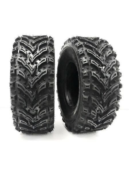 (2) 25X8-12 Mud Crusher Front ATV Tires 6Ply HEAVY DUTY ATV TIRES 25X8.00-12