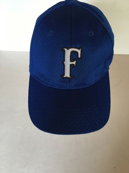 Trucker Baseball Hat Blue With Letter F On Front Fitted One Size Fits Most