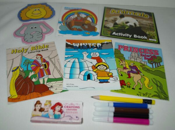 FUN SET COLORING BOOKS NOTEPADS PEN PENCIL FOR 18