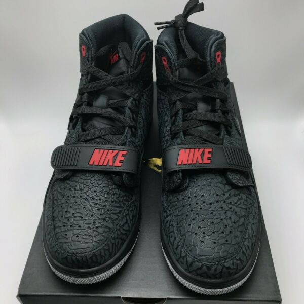 Nike Air Jordan Legacy 312 Men's Shoes Black / Black - Varsity Red AV3922-006
