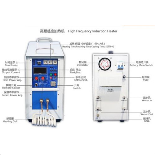 High frequency induction heater for melting Iron and other metal Special Produ S