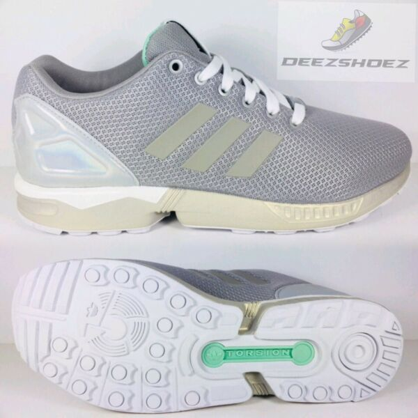 Adidas ZX Flux Beige/White Mens B34483 US Size 10 Extra Laces