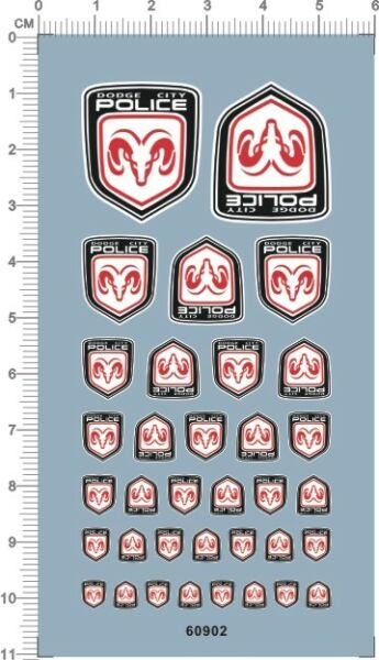 Decals DODGE city police for different scales model kits 60902