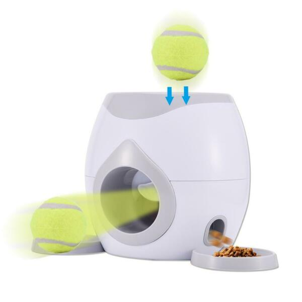 Pet Food Feeding Incentive Machine Dogs Toys Tennis ball Automatic Launcher