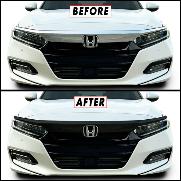Chrome Delete Blackout Overlay for 2018 21 Honda Accord Front Grille Trim $24.95