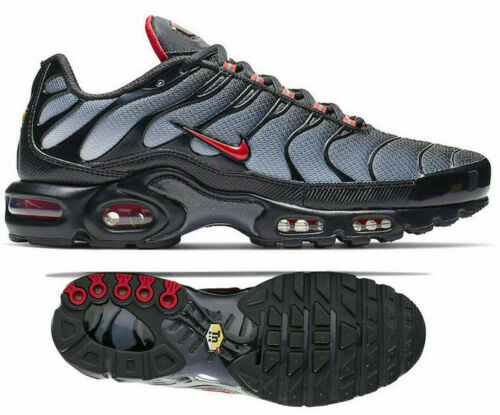 New NIKE Air Max Plus TN Men's Sneakers black gray red C12299 001