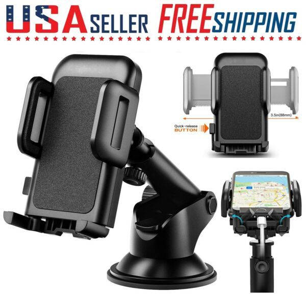 Car Cell Phone Mount Holder Dashboard  Windshield CD Slot Stand 360 Rotation