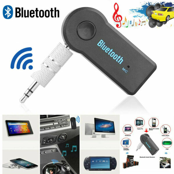 Wireless Bluetooth Receiver 3.5mm USB For Aux Stereo Audio Music Car Adapter Mic