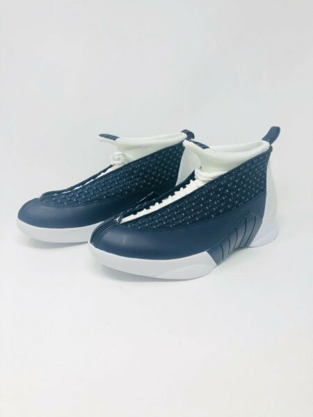 Nike Air Jordan Retro 15 XV Obsidian Navy Blue White (881429-400) Mens Size 10