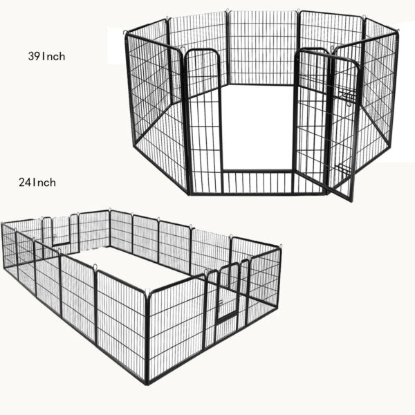 "8panel39"" 16panel24""Metal Dog Cat Exercise Fence Playpen Kennel Safe For Pet"