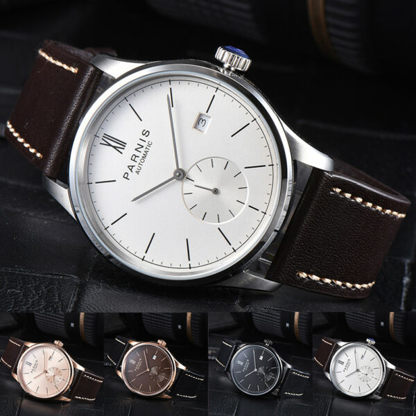 Parnis Automatic Movement Men's Casual Mechanical Watch Small Second Best Gift