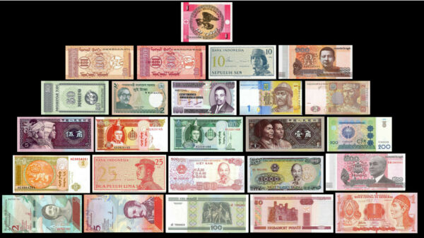 25 Pcs of Different Unique World Foreign BanknotesCurrency UNC. Lot + List