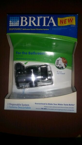 Brita Disposible Bathroom Faucet Filtration System W Drinking Fountain
