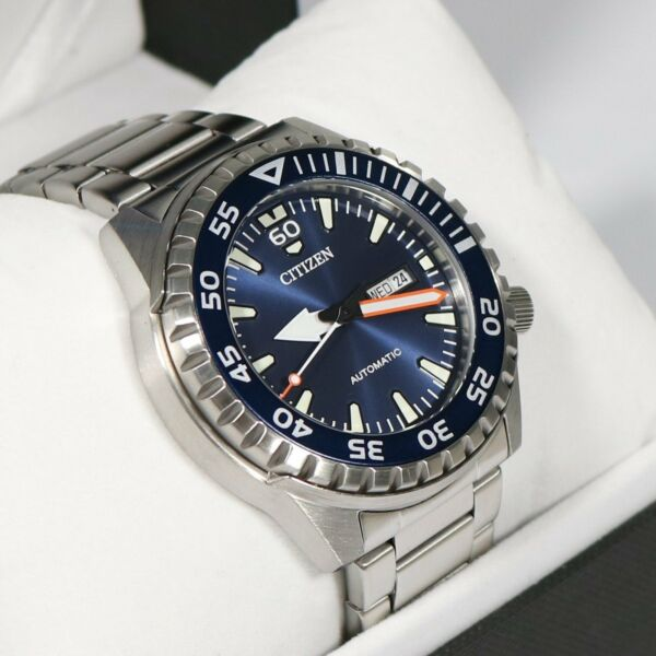 Citizen Stainless Steel Automatic Marine Sports Men#x27;s Watch NH8389 88L $159.99
