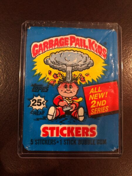 1985 TOPPS GARBAGE PAIL KIDS EMPTY PACK Wax Wrapper 0S2 2nd Series 2 Nostalgic