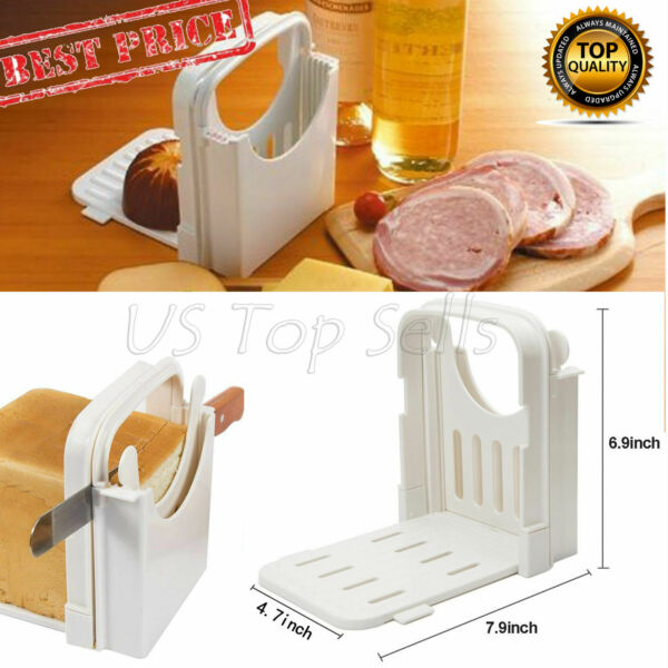 Bread Slicer Toast Cutting Guide Folding Adjustable Bread Machine Loaf Sandwich