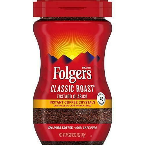 Folgers Classic Roast Instant Coffee 3 Ounce Packaging 3 Ounce Pack of 1 $8.29