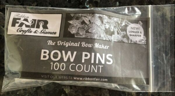 100 BOW PINS for use with all Bow Makers that use Bow Pins FREE SHPG