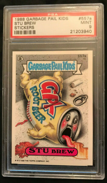 GARBAGE PAIL KIDS SERIES 14 STU BREW #557A PSA 9 MINT POP 3