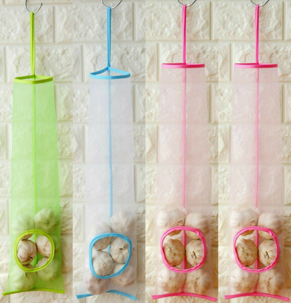 New Home Grocery Bag Mesh Hanging Garbage Bag for Fruit And Vegetable Collection