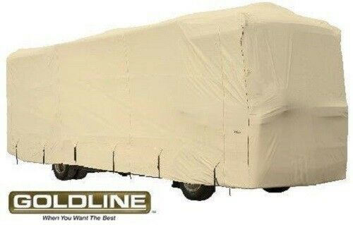 Goldline Premium Class A RV Trailer Cover Fits 40 to 42 foot Tan