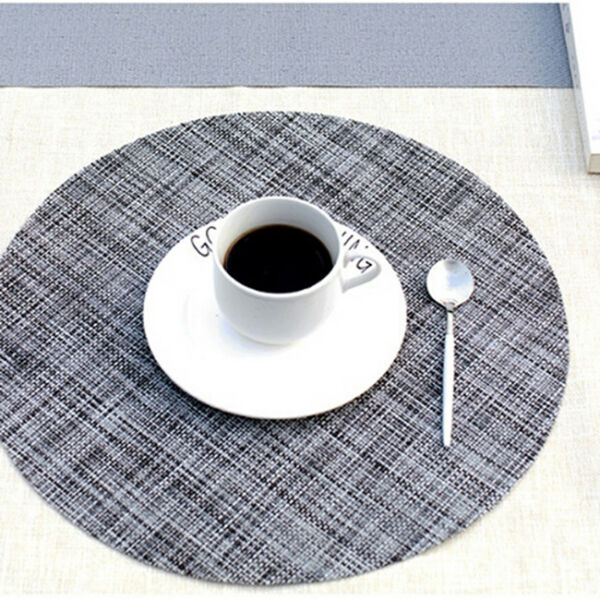 Round Place Mats For Kitchen Table Heat Resistant Dinner Table Placemats LE