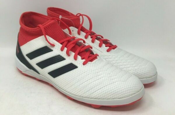 Adidas Predator Indoor Soccer Cleats Size 9.5 (White/Black/Red)