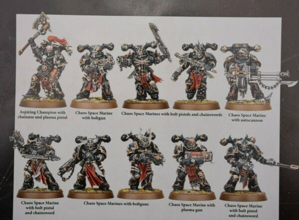 Warhammer 40k Chaos Space Marines Daemonkin Tactical Squad (10) Shadowspear -NoS