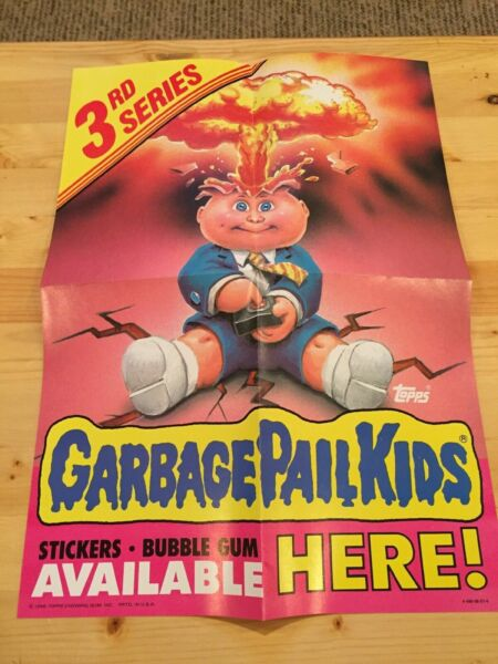 1986 Garbage Pail Kids 3rd Series 3 OS3 Poster VINTAGE COLLECTIBLE adam bomb new