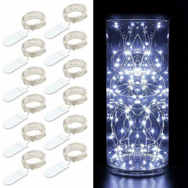 Govee 12 Packs Fairy String Lights 3.3FT 20 LEDs Battery Operated (Cool White)