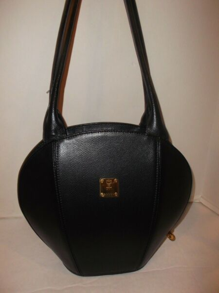 AUTHENTIC MCM LEATHER HANDBAG MADE IN GERMANY BLACK