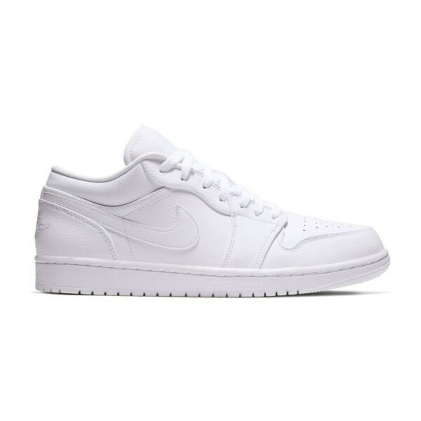 AIR JORDAN 1 LOW MENS 553558-112 TRIPLE WHITE AF1 OG RETRO ALL SIZES SHIP NOW