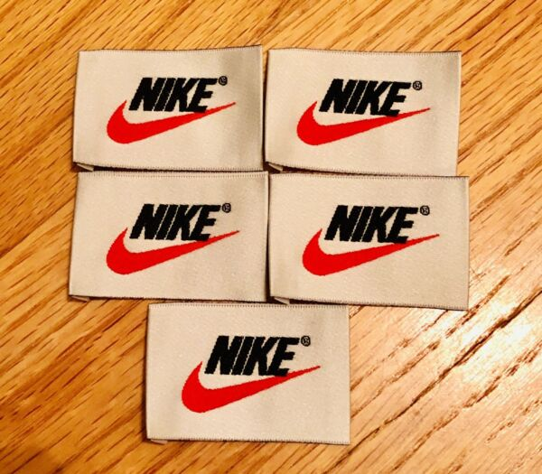 1 x OG Vintage 90's Authentic NIKE Logo Label Jersey Patch Embroidery NBA USA