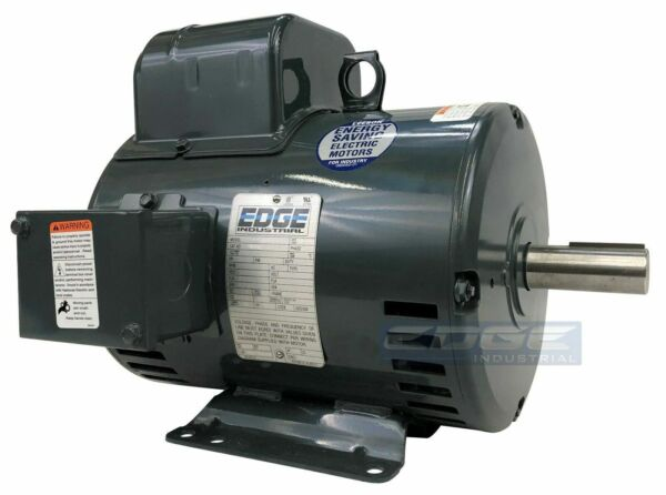 5HP BALDOR COMPRESSOR DUTY INDUSTRIAL ELECTRIC MOTOR 184T 1750 RPM 208-230V