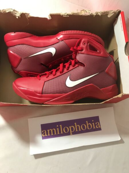 New Mens Nike Hyperdunk '08 Size 11.5 Red Basketball Shoes