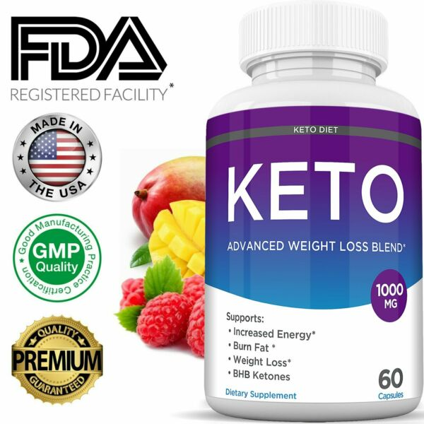 Keto Diet BURN Pills 1000 MG Best Weight Loss Fat Burner Supplement