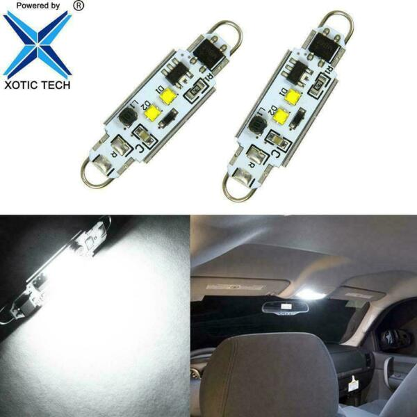 2x 44mm Rigid Loop White Festoon LED Light Bulbs for Chevy Colorado Dome 04-2012
