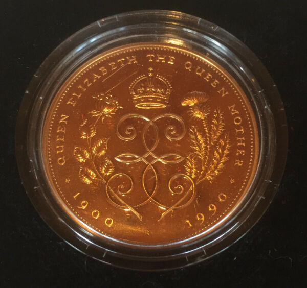 1900 - 1990 Royal Mint Queen Mothers 90th Birthday 1.4Oz 5 Pound Gold Proof Coin