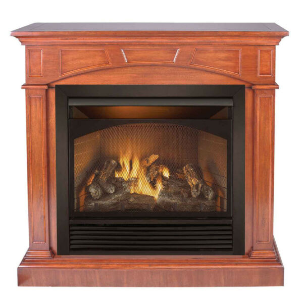 Duluth Forge Dual Fuel Ventless Gas Fireplace -32000BTU Heritage Cherry Finish