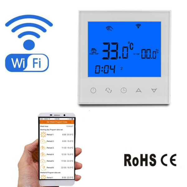 Wifi Thermostat Underfloor Heating Thermostats Smart Heating Controller Boiler $29.99