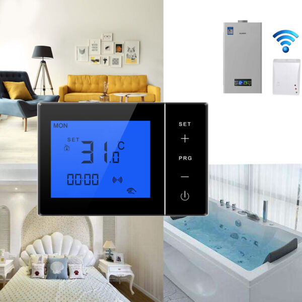 Wireless Thermostat Central Heating Room Underfloor Heating Thermostats Boiler $57.99